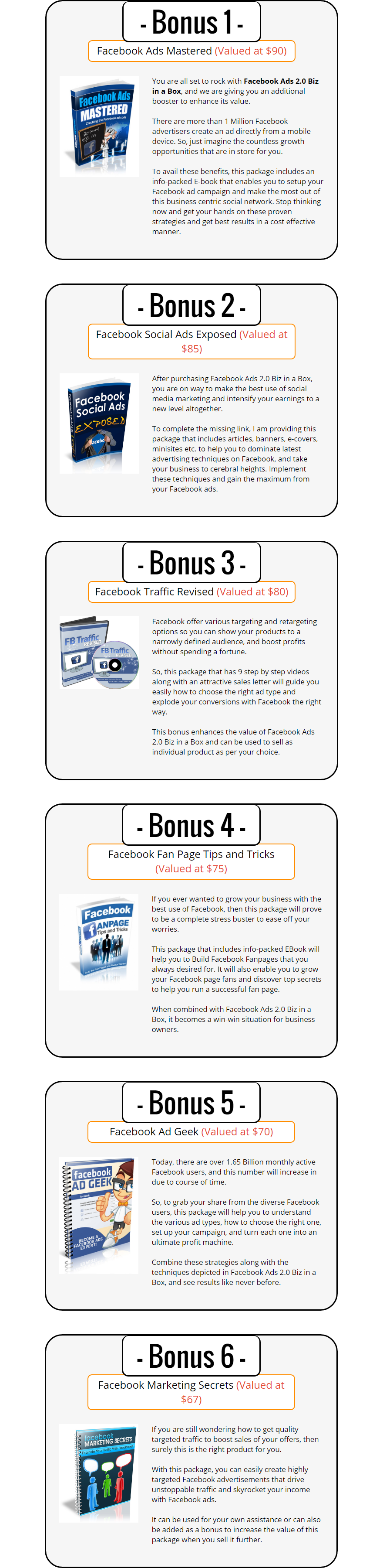 Facebook Ads V2 Biz in a Box Bonuses
