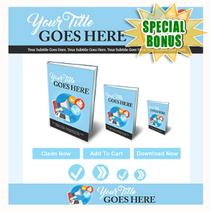 Special Bonuses - July 2016 - Marketing Minisite Template