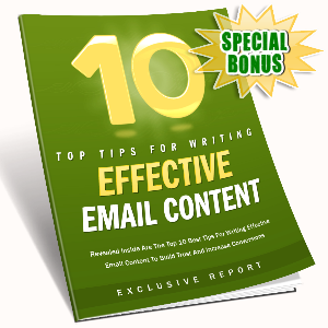 Special Bonuses - July 2016 - 10 Tips For Effective Email Content
