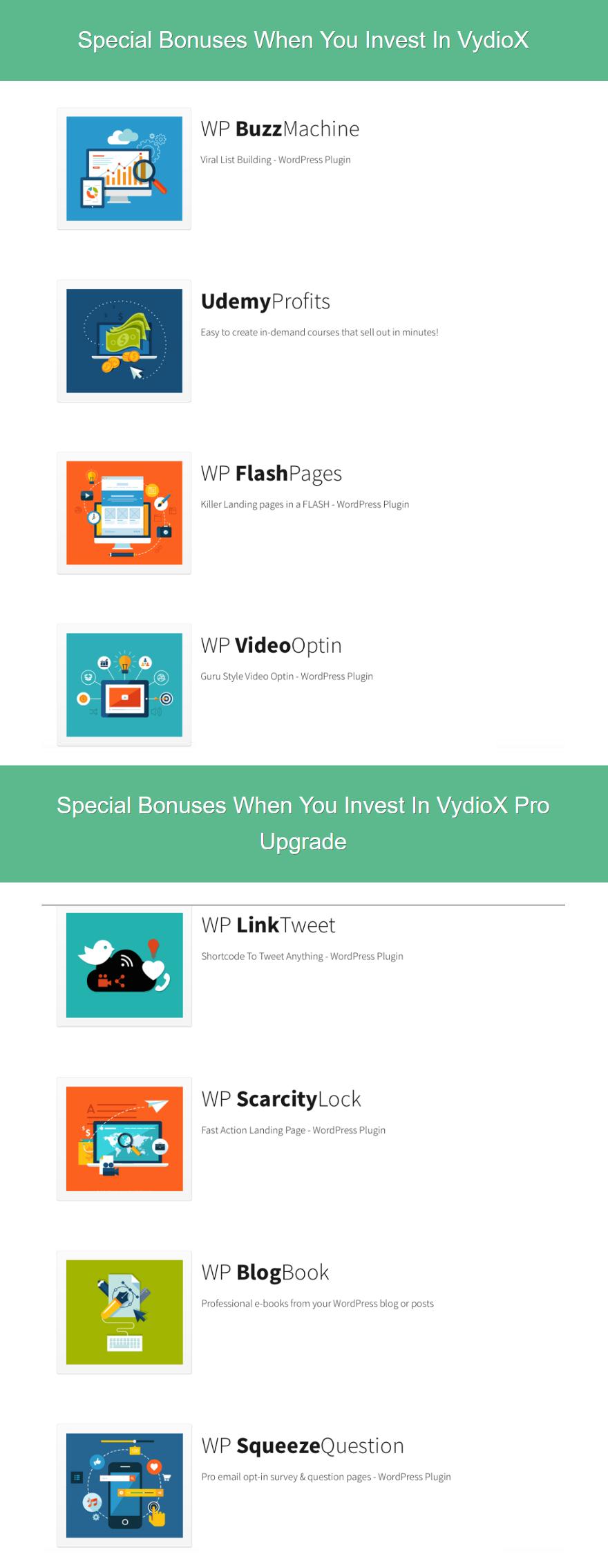 VydioX Bonuses