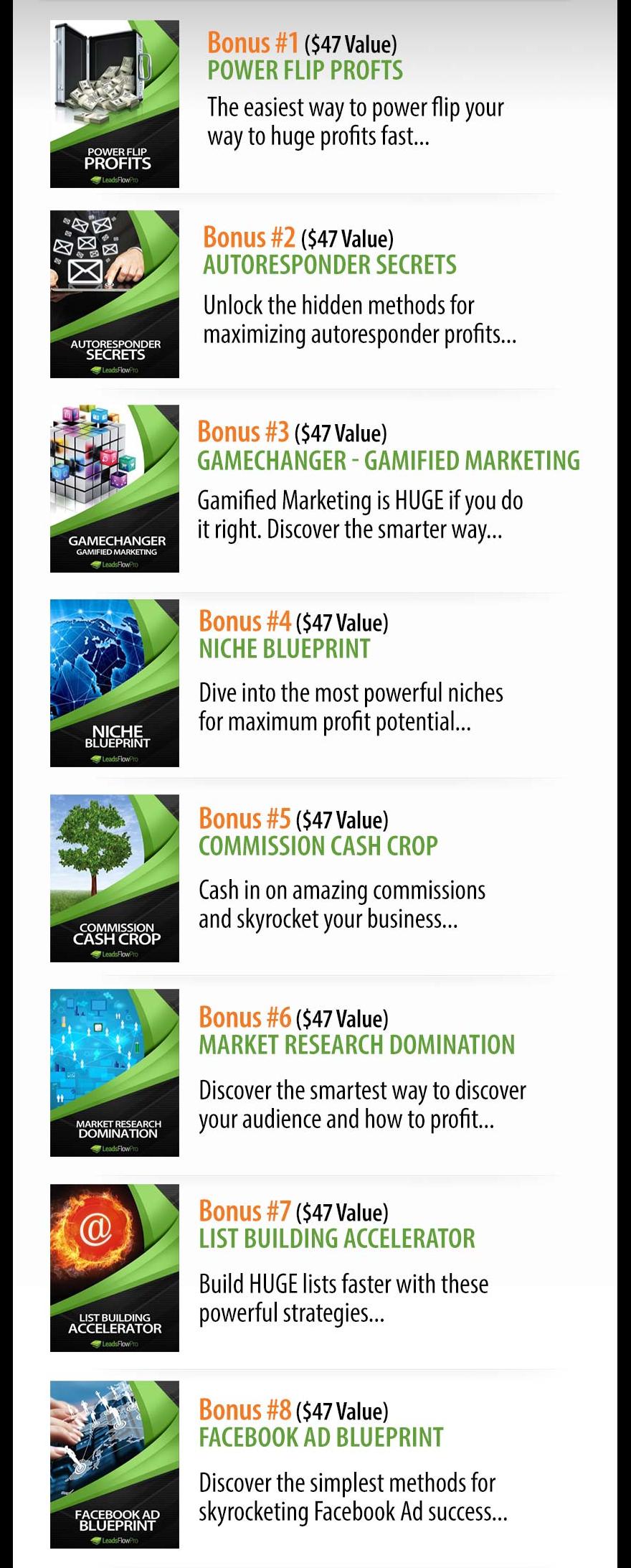 LeadsFlow Pro Bonuses
