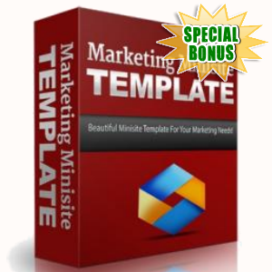 Special Bonuses - September 2016 - Marketing Minisite Template