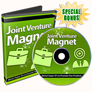 Special Bonuses - November 2016 - Joint Venture Magnet Video Series