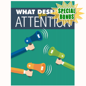 Special Bonuses - November 2016 - What Deserves Your Attention