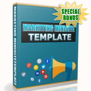 Special Bonuses - November 2016 - Marketing Minisite Template
