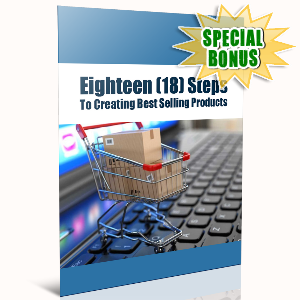 Special Bonuses - November 2016 - 18 Steps To Creating Best Selling Products