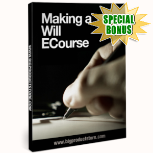 Special Bonuses - December 2016 - Making A Will Ecourse