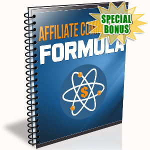 Special Bonuses - December 2016 - Affiliate Commission Formula