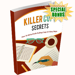 Special Bonuses - December 2016 - Killer Copy Secrets