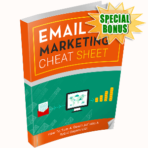 Special Bonuses - December 2016 - Email Marketing Cheat Sheet