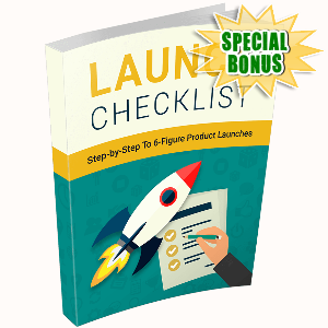 Special Bonuses - December 2016 - Launch Checklist