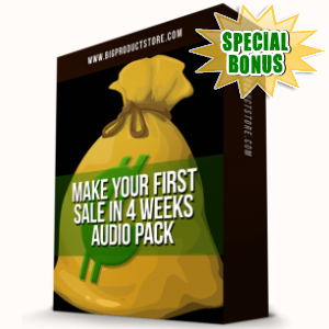 Special Bonuses - January 2017 - Make Your First Sale In 4 Weeks Audio Pack
