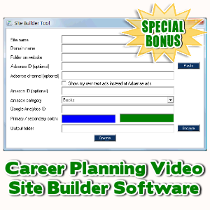 Special Bonuses - January 2017 - Career Planning Video Site Builder Software