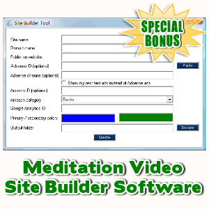 Special Bonuses - January 2017 - Meditation Video Site Builder Software