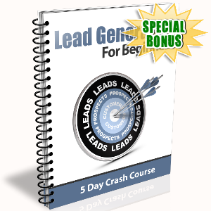 Special Bonuses - January 2017 - Lead Generation For Beginners
