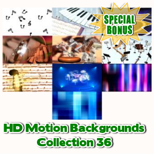 Special Bonuses - January 2017 - HD Motion Backgrounds Collection 36