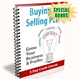 Special Bonuses - February 2017 - Buying & Selling PLR