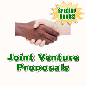 Special Bonuses - March 2017 - Joint Venture Proposals