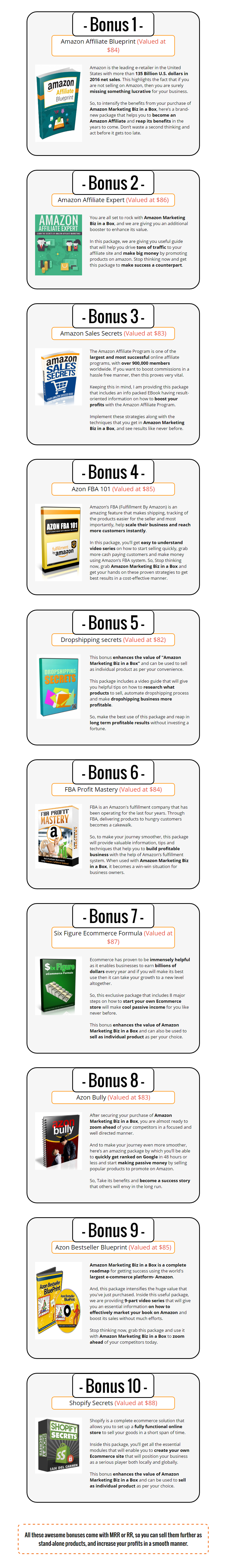 Amazon Marketing Biz In A Box PLR Bonuses