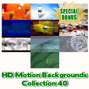 Special Bonuses - April 2017 - HD Motion Backgrounds Collection 40