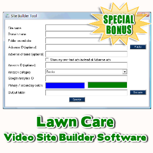 Special Bonuses - April 2017 - Lawn Care Video Site Builder Software