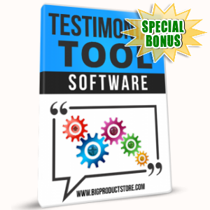 Special Bonuses - April 2017 - Testimonial Tool Software