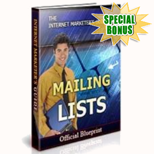 Special Bonuses - April 2017 - Mailing Lists
