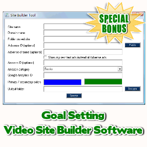Special Bonuses - May 2017 - Goal Setting Video Site Builder Software