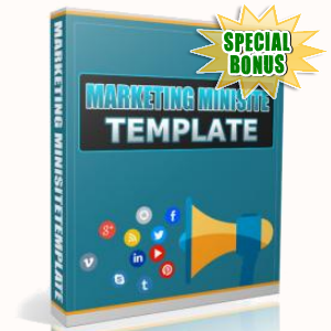 Special Bonuses - May 2017 - Marketing Minisite Template