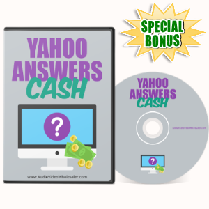 Special Bonuses - May 2017 - Yahoo Answers Cash Video