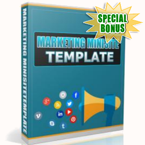 Special Bonuses - June 2017 - Marketing Minisite Template