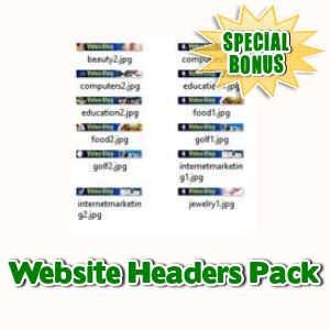 Special Bonuses - June 2017 - Website Headers Pack