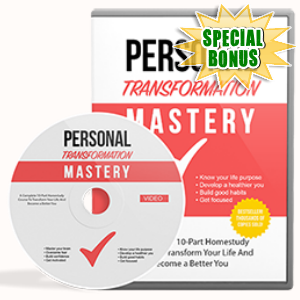 Special Bonuses - June 2017 - Personal Transformation Mastery Gold Video Series