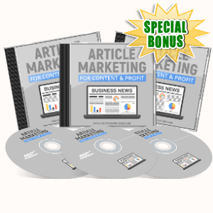 Special Bonuses - June 2017 - Article Marketing For Content & Profit Audio Pack