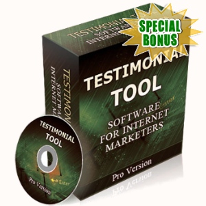Special Bonuses - June 2017 - Testimonial Tool Software