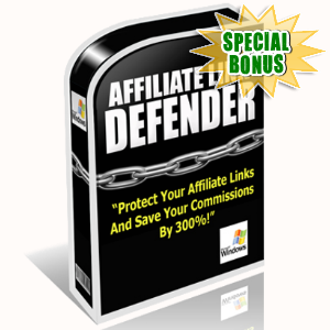 Special Bonuses - July 2017 - Affiliate Link Defender Software
