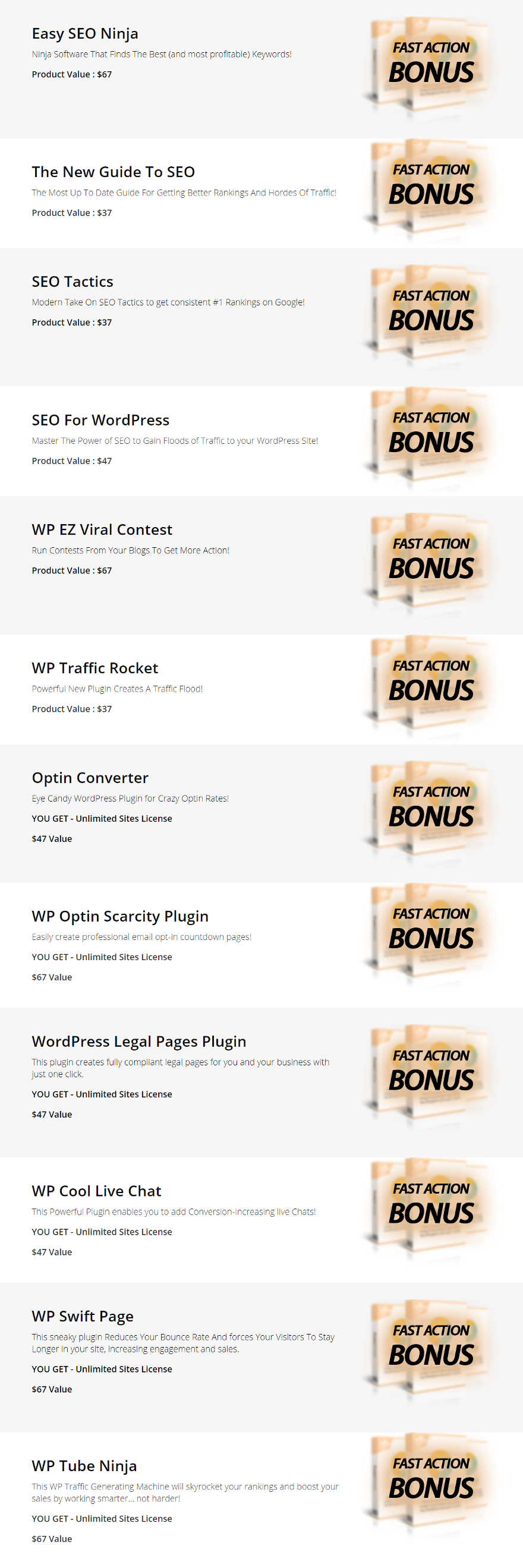 Backlink Machine Bonuses