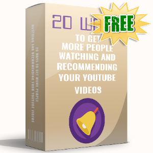 FREE Weekly Gifts - August 21, 2017 - 20 Ways To Get More People Watching