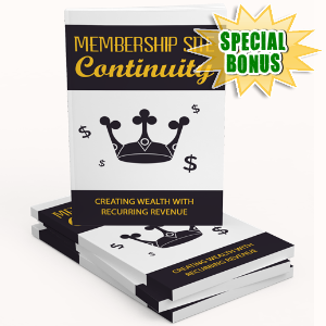 Special Bonuses - August 2017 - Membership Site Continuity Gold Upgrade Pack