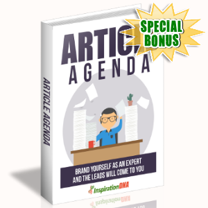Special Bonuses - August 2017 - Article Agenda Pack