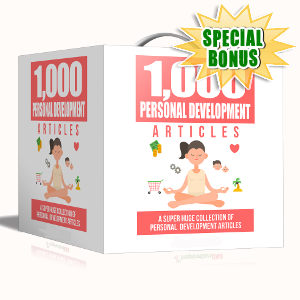 Special Bonuses - September 2017 - 1000 Personal Development Articles Pack