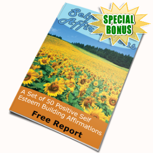 Special Bonuses - September 2017 - 50 Self Esteem Affirmations Pack