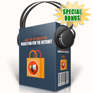 Special Bonuses - September 2017 - Law Of Attraction Marketing For The Internet Audio Pack