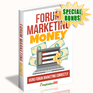 Special Bonuses - September 2017 - Forum Marketing Money