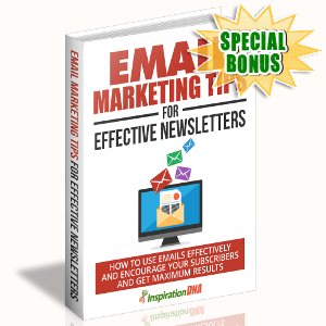 Special Bonuses - September 2017 - Email Marketing Tips For Effective Newsletter