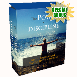 Special Bonuses - October 2017 - The Power Of Discipline