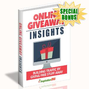 Special Bonuses - October 2017 - Online Giveaway Insights
