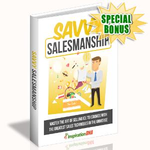 Special Bonuses - October 2017 - Savvy Salesmanship
