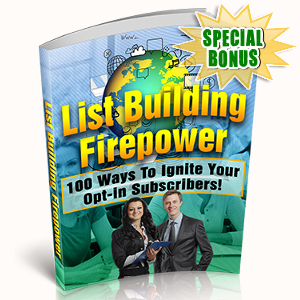 Special Bonuses - October 2017 - List Building Firepower Pack