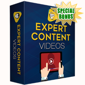 Special Bonuses - October 2017 - Expert Content Videos Pack